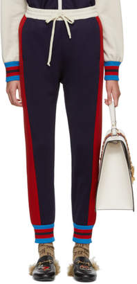 Gucci Blue Stripe Track Pants