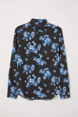 H&M Patterned Lyocell Shirt - Blue