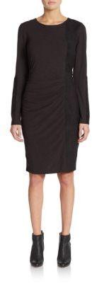 Faux Suede-Paneled Sheath Dress $188 thestylecure.com