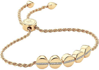 Monica Vinader Linear bead 18ct yellow gold-plated and pavé diamond bracelet