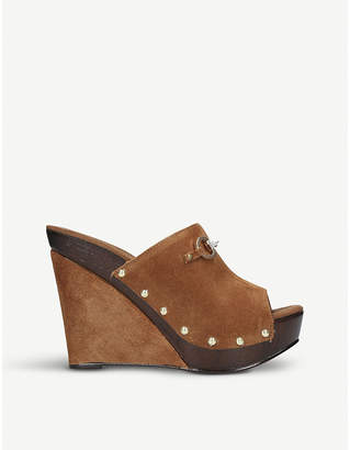 Carvela Klaus suede wedge sandals