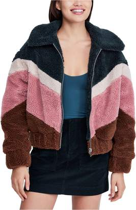 BDG Urban Outfitters Chevron Teddy Coat