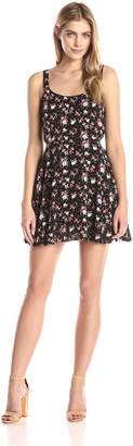 Lucca Couture Women's Floral Printed Sleeveless Easy Dress, White Spring