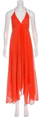 Alice + Olivia Pleated Maxi Dress
