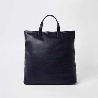 River Island Navy faux leather tote bag