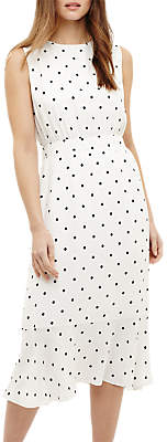 Phase Eight Alison Spot Dress, Cream Ivory