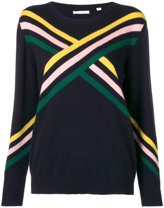 Parker Chinti & colour-block fitted sweater