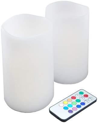 Lumabase LumaBase 3-piece Color-Changing LED Pillar Candle Set