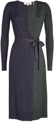 Diane von Furstenberg Wrap Dress with Merino Wool