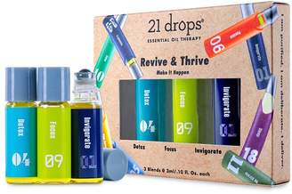 21 Drops Revive & Thrive Essential Oil Trio Gift Set