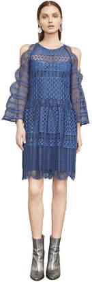 BCBGMAXAZRIA Finley Cold-Shoulder Lace Dress