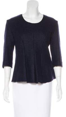 Hache Wool Scoop Neck Top