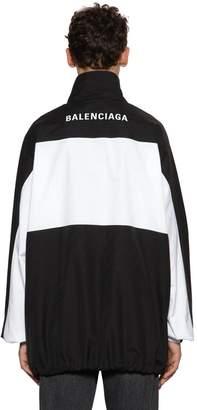 Balenciaga Logo Embroidered Shirt Jacket