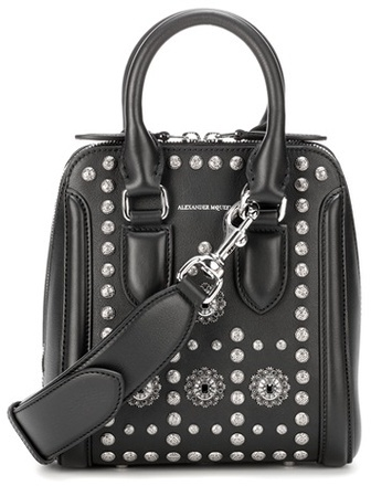Alexander McQueen Alexander McQueen Small Heroine embellished leather crossbody bag