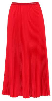 Prada Pleated twill midi skirt