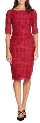 Adrianna Papell Scalloped Lace Sheath Dress