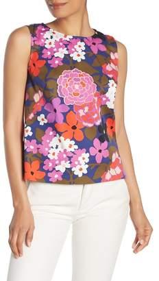 Trina Turk Lennox Retro Floral Print Tank Top