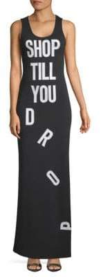 Moschino Shop Till You Drop Maxi Dress