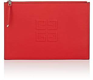 Givenchy Women's Emblem Large Leather Pouch - Red