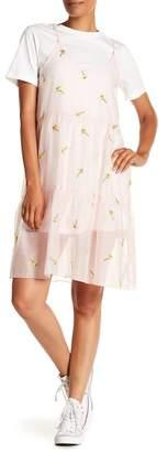 ENGLISH FACTORY Slip T-Shirt Dress