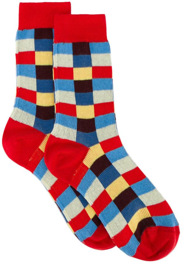 Miu MiuMiu Miu check cotton socks