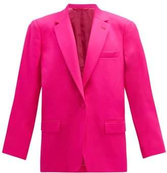 ATTICO The Single Breasted Wool Blend Twill Blazer - Womens - Fuchsia