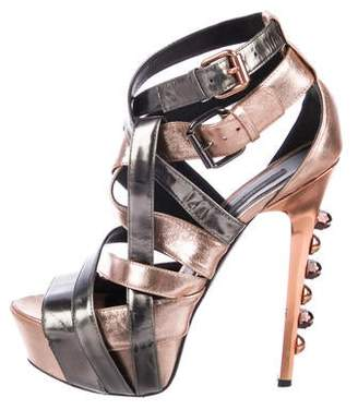 Ruthie Davis Horizon Metallic Platform Sandals