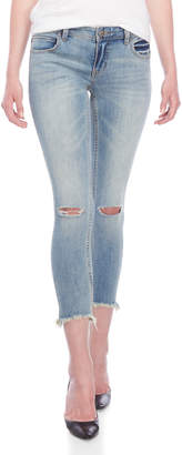 Free People Distressed Low-Rise Skinny Jeans