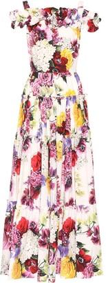 Dolce & Gabbana Floral-printed cotton maxi dress