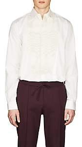 Givenchy Men's Sequined Cotton Poplin Tuxedo Shirt - Ivorybone