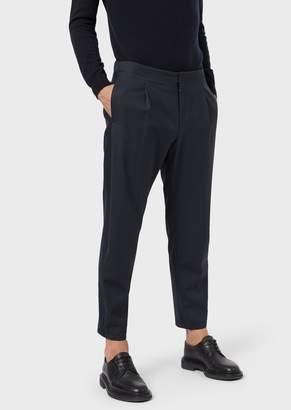 Giorgio Armani Trousers In Water Repellent Wool