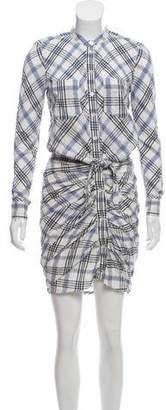 Veronica Beard Plaid Button-Up Dress
