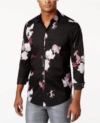 INC International Concepts Men's Abstract Floral Shirt, Only at Macy's $65 thestylecure.com