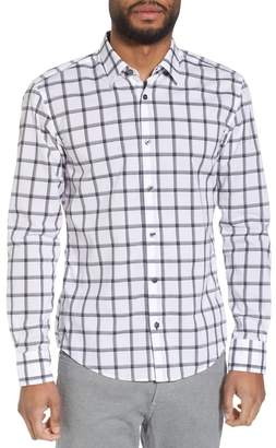 BOSS Reid Slim Fit Windowpane Sport Shirt