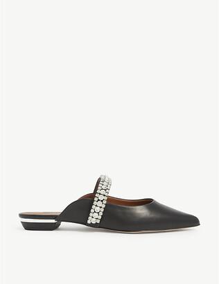 Kurt Geiger London Princely embellished-strap leather mules