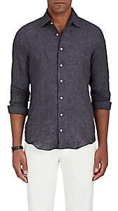 P. Johnson Men's Linen Canvas Shirt-Dark Gray