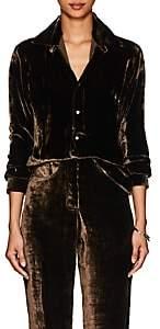Juan Carlos Obando Women's Velvet Shirt - Brown