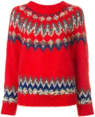 Coohem embroidered fitted sweater
