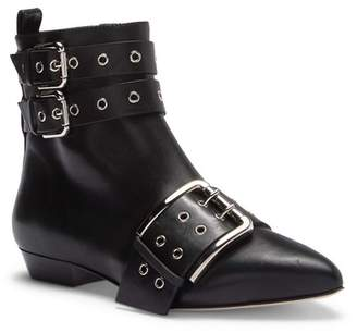 RED Valentino Buckle Ankle Boot