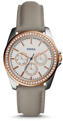 Fossil Janice Multifunction Gray Leather Watch