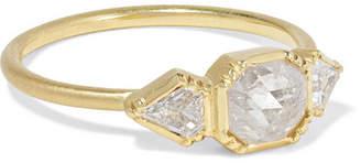 Brooke Gregson Triple Geo 18-karat Gold Diamond Ring
