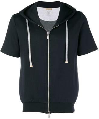 Eleventy short sleeved hoodie