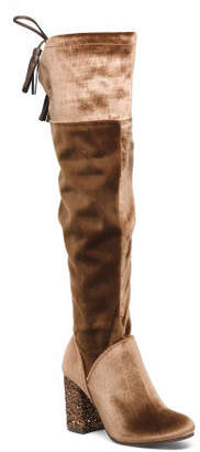 Statement Heel Knee High Boots