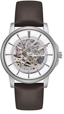 Kenneth Cole New York Men's Automatic Stainless Steel and Leather Casual Watch