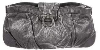 Salvatore Ferragamo Metallic Leather Evening Bag