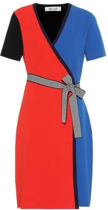 Diane von Furstenberg Halston jersey knit wrap dress