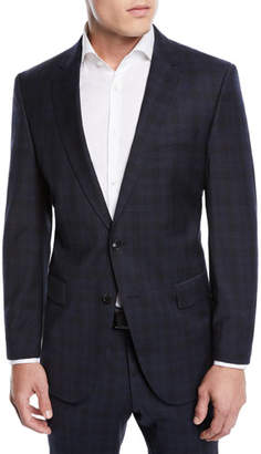 BOSS Men's Huge Genius Check Slim-Fit Two-Piece Wool Suit