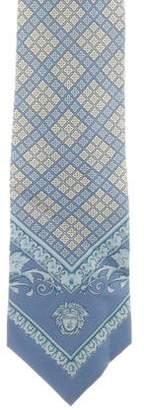 Gianni Versace Vintage Printed Silk Tie