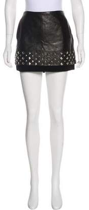 Diane von Furstenberg Elley Leather Mini Skirt