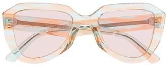 Celine pink and blue aviator sunglasses